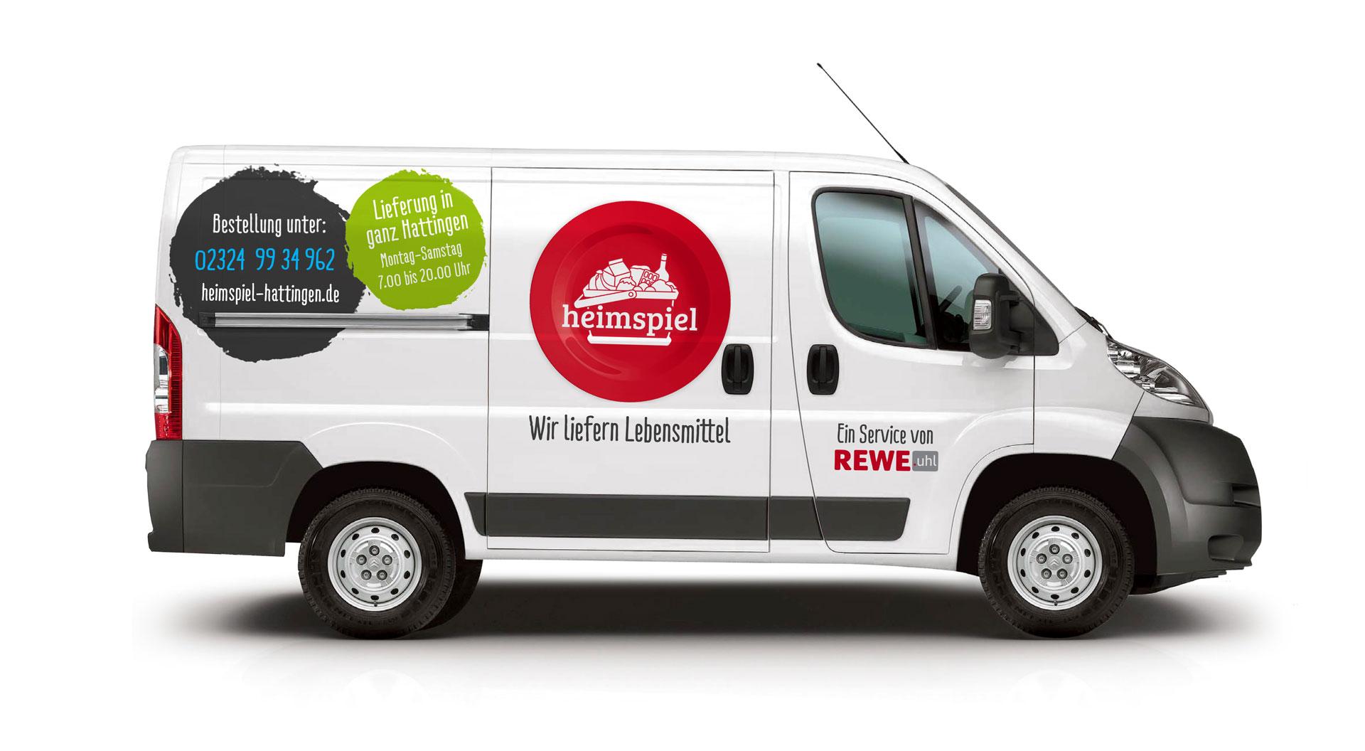 Rewe Lieferwagen