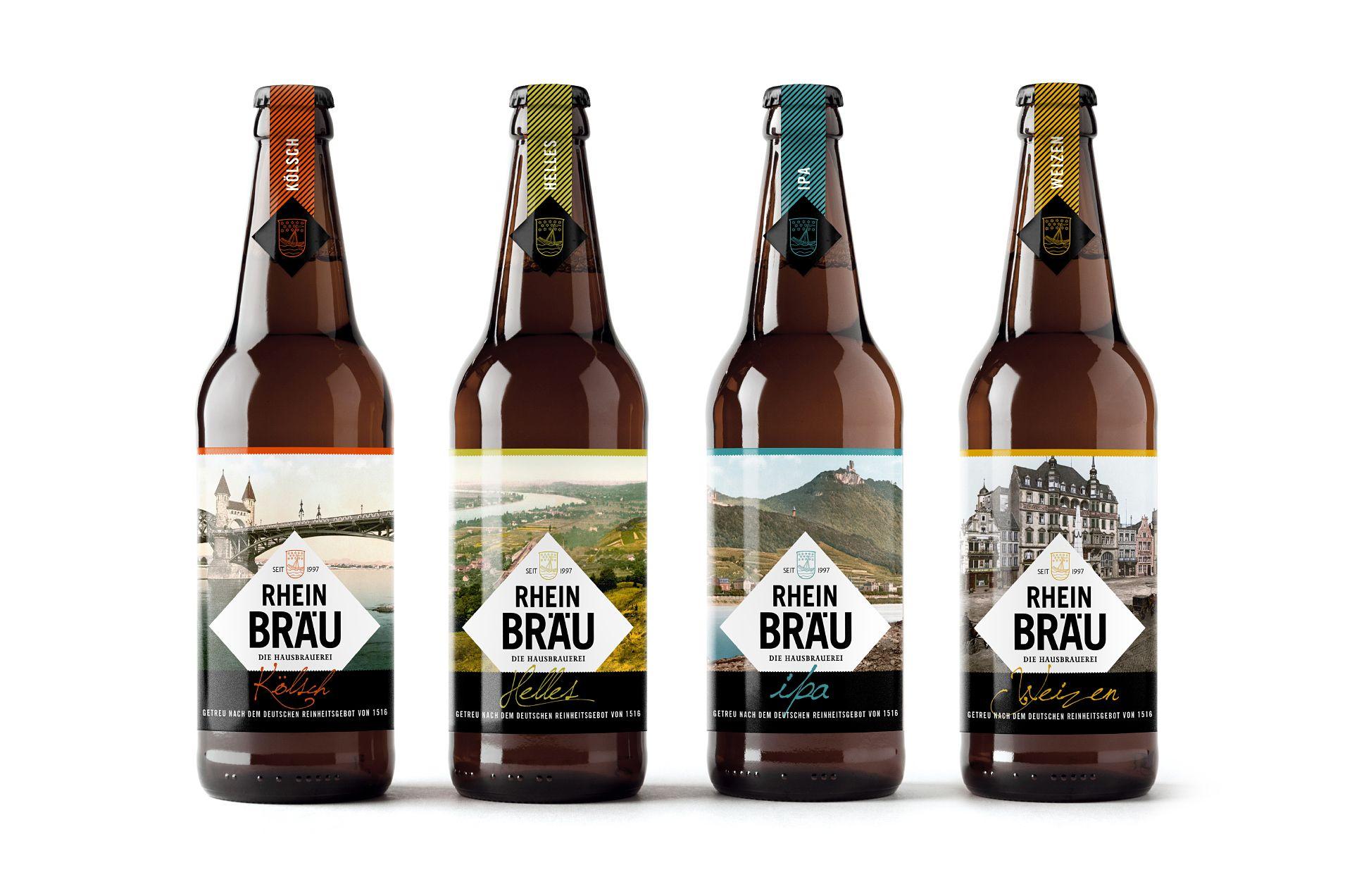 Beer Bottle Mock-Up - Three Bottles